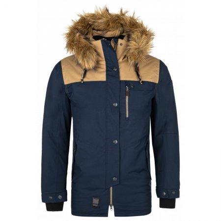 Pánská zimní bunda KILPI ALPHA-M NM0079KI TMAVĚ MODRÁ