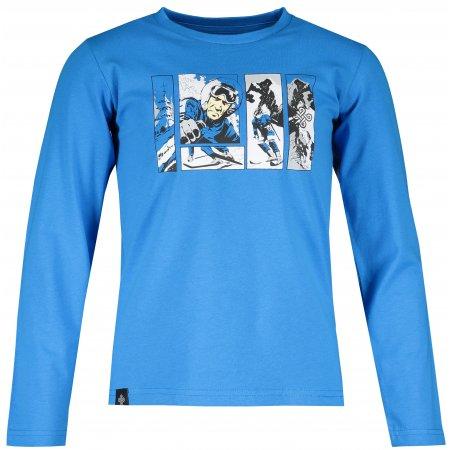 Chlapecké tričko s dlouhým rukávem KILPI NURMES-JB NJ0055KI MODRÁ