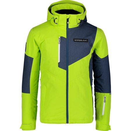 Pánská lyžařská bunda NORDBLANC MANFUL NBWJM7300 JASNĚ ZELENÁ