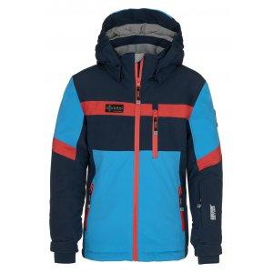 Chlapecká lyžařská bunda KILPI PONTE-JB NJ0001KI TMAVĚ MODRÁ
