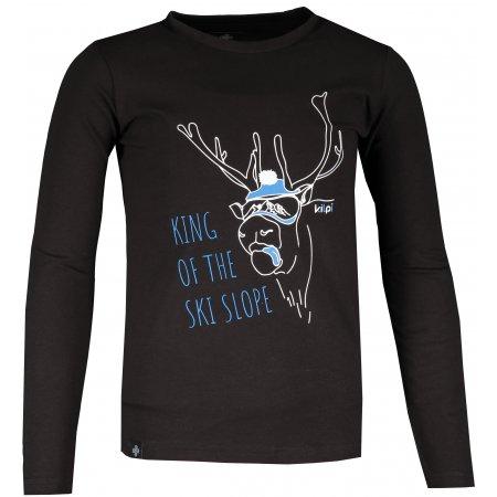 Dětské tričko s dlouhým rukávem KILPI NURMES-JB NJ0055KI ČERNÁ