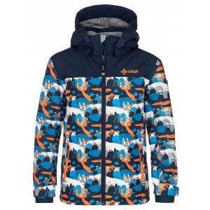 Dětská lyžařská bunda KILPI ATENI-JB NJ0003KI TMAVĚ MODRÁ