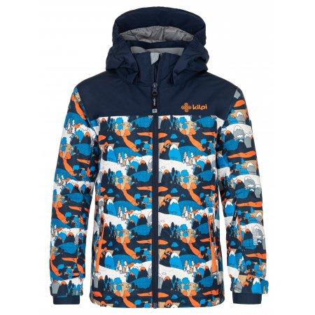 Chlapecká lyžařská bunda KILPI ATENI-JB NJ0003KI TMAVĚ MODRÁ
