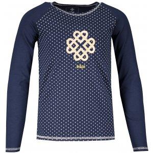 Dětské tričko s dlouhým rukávem KILPI VANILA-JG NJ0064KI TMAVĚ MODRÁ