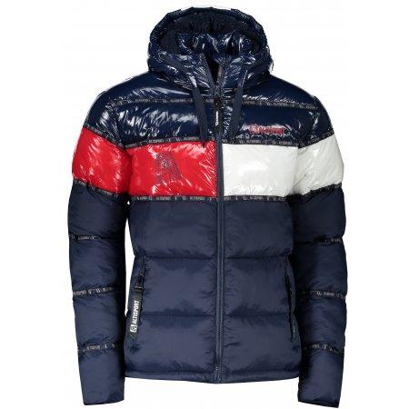 Pánská zimní bunda ALTISPORT TIMOTEO TMAVĚ MODRÁ