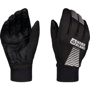 Softshellové rukavice NORDBLANC GRAB NBWG6361 CRYSTAL ČERNÁ
