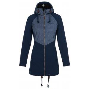 Dámský softshellový kabát KILPI LASIKA-W NL0073KI TMAVĚ MODRÁ