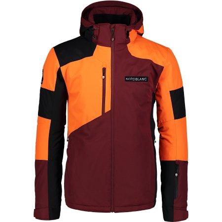 Pánská lyžařská bunda NORDBLANC COPPER NBWJM6900 ZAPRÁŠENÁ VÍNOVÁ