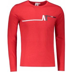 Pánské triko s dlouhým rukávem ALTISPORT ALM037119 ČERVENÁ