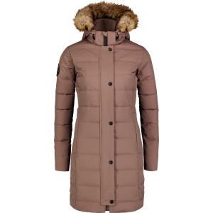 Dámský péřový kabát NORDBLANC CHILLY NBWJL6929 HNĚDÁ