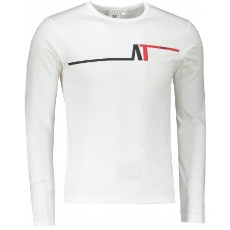Pánské triko s dlouhým rukávem ALTISPORT ALM037119 BÍLOČERVENÁ
