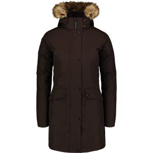 Dámský zimní kabát NORDBLANC GELID NBWJL6941 TMAVĚ HNĚDÁ