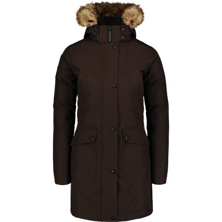 Dámský zimní kabát NORDBLANC NBWJL6941 TMAVĚ HNĚDÁ