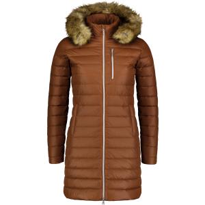 Dámský péřový kabát NORDBLANC CRAVE NBWJL6940 SKOŘICOVĚ HNĚDÁ