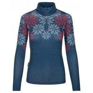 Dámské triko s dlouhým rukávem  KILPI LEEMA-W NL0031KI TMAVĚ MODRÁ