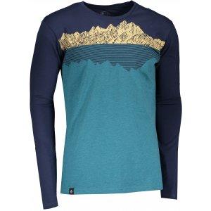 Pánské tričko s dlouhým rukávem KILPI DRUMON-M NM0101KI TYRKYSOVÁ