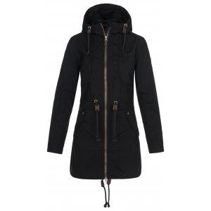 Dámský kabát KILPI PAU-W NL0081KI ČERNÁ