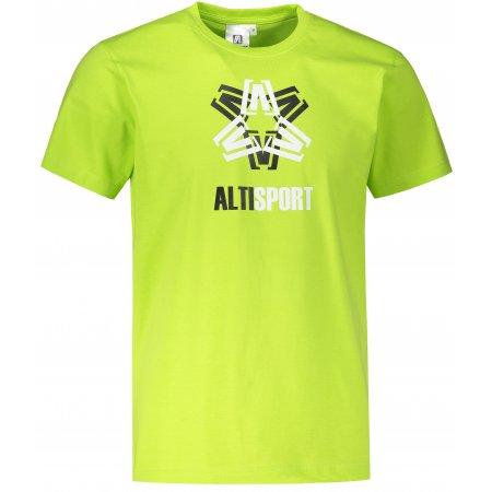 Pánské triko ALTISPORT ALM046129 LIMETKOVÁ