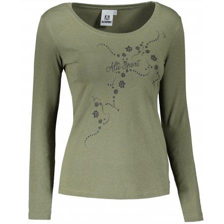 Dámské triko s dlouhým rukávem ALTISPORT ALW009169 KHAKI