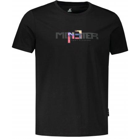 Pánské triko PEAK ROUND NECK T SHIRT FW602901 BLACK