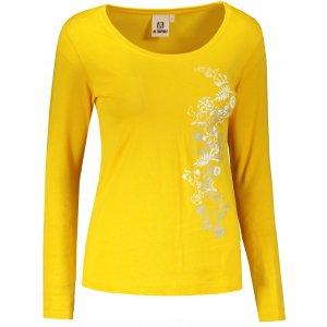 Dámské triko s dlouhým rukávem ALTISPORT ALW029169 ŽLUTÁ