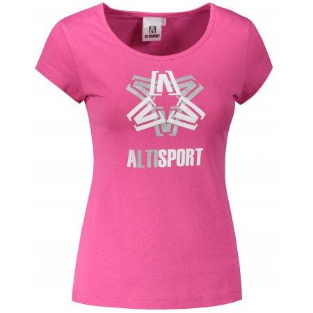 Dámské triko ALTISPORT ALW046122 PURPUROVÁ
