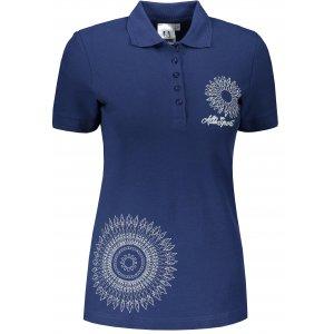 Dámské triko s límečkem ALTISPORT ALW024210 PŮLNOČNÍ MODRÁ