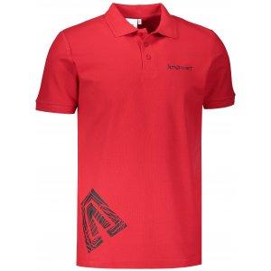 Pánské triko s límečkem ALTISPORT ALM013203 ČERVENÁ
