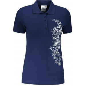 Dámské triko s límečkem ALTISPORT ALW029210 PŮLNOČNÍ MODRÁ