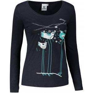 Dámské triko s dlouhým rukávem ALTISPORT ALW043169 NÁMOŘNÍ MODRÁ/MODRÁ