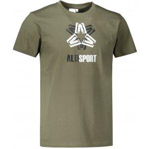 Pánské triko ALTISPORT ALM046129 KHAKI