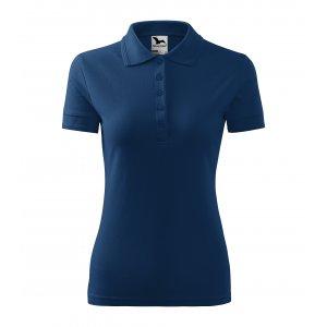 Dámské triko s límečkem MALFINI PIQUE POLO 210 PŮLNOČNÍ MODRÁ