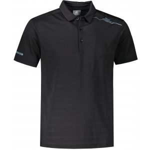 Pánské funkční triko s límečkem PEAK POLO T SHIRT FW602569 BLACK