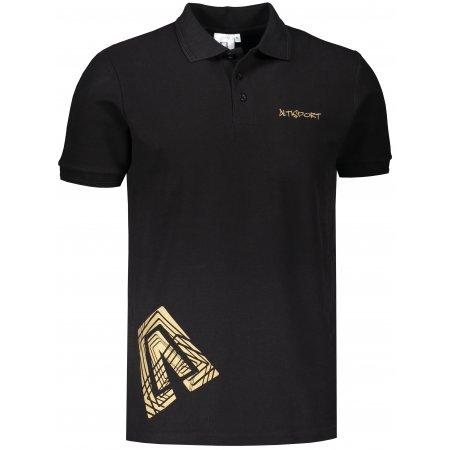 Pánské triko s límečkem ALTISPORT ALM013203 ČERNOZLATÁ