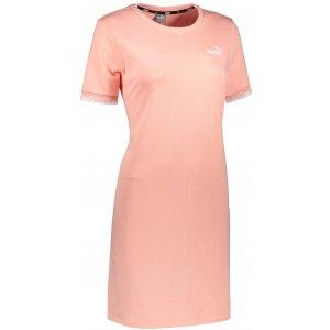 Dámské šaty PUMA AMPLIFIED DRESS TR APRICOT BLUSH