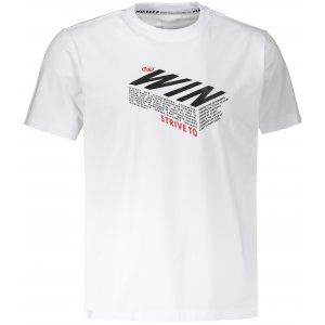Pánské triko PEAK ROUND NECK T SHIRT FW602233 WHITE