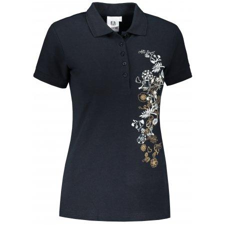 Dámské triko s límečkem ALTISPORT ALW029210 NÁMOŘNÍ MODRÁ/ZLATÁ
