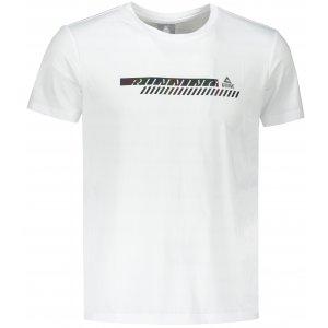 Pánské funkční triko PEAK ROUND NECK T SHIRT FW602557 WHITE