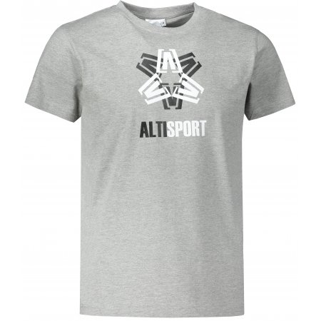 Pánské triko ALTISPORT ALM046129 TMAVĚ ŠEDÝ MELÍR