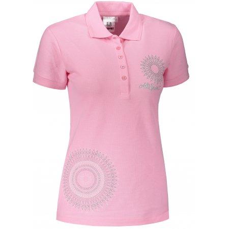 Dámské triko s límečkem ALTISPORT ALW024210 SVĚTLE RŮŽOVÁ