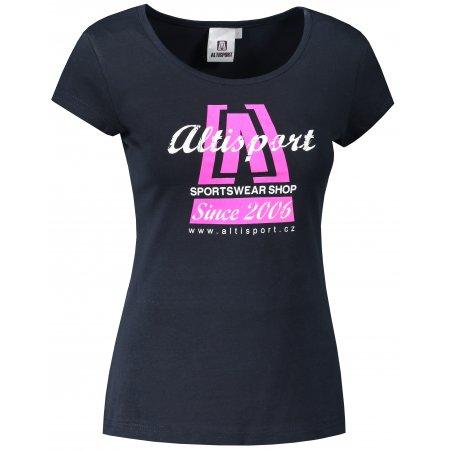 Dámské triko ALTISPORT ALW047122 NÁMOŘNÍ MODRÁ/RŮŽOVÁ