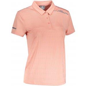 Dámské funkční triko s límečkem PEAK POLO T SHIRT FW602568 DARK PINK
