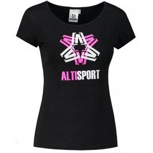 Dámské triko ALTISPORT ALW046122 ČERNORŮŽOVÁ