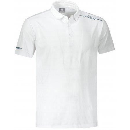Pánské funkční triko s límečkem PEAK POLO T SHIRT FW602569 WHITE