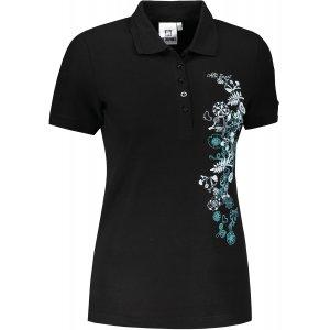 Dámské triko s límečkem ALTISPORT ALW029210 ČERNOMODRÁ