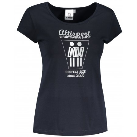 Dámské triko ALTISPORT ALW049122 NÁMOŘNÍ MODRÁ/STŘÍBRNÁ