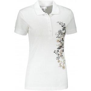 Dámské triko s límečkem ALTISPORT ALW029210 BÍLÁ