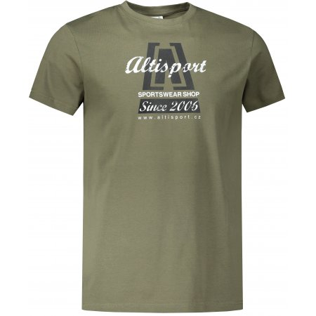 Pánské triko ALTISPORT ALM047129 KHAKI