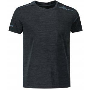 Pánské funkční triko PEAK ROUND NECK T SHIRT FW602707 BLACK MELANGE GREY