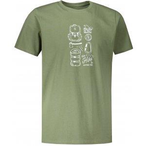 Pánské triko ALPINE PRO UNEG 9 MTST578 KHAKI